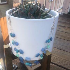 LC Lauren Conrad Jewelry - Lauren Conrad Blue Turquoise Statement Necklace